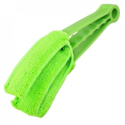 Green Venetian Blind Cleaner Brush Duster Cleaning for 3 Slats