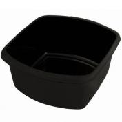 Whitefurze Plastic Small Rectangular Washing Up Kitchen Sink Bowl Black