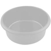 Whitefurze Plastic Round Washing Up Kitchen Sink Bowl Cream