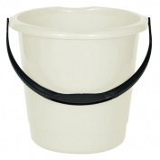 10 litre Household Bucket - Cream