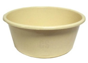 LUCY PLASTIC MAIZE BEIGE CREAM LARGE ROUND KITCHEN WASHING UP BOWL