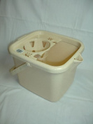 Plastic OATMEAL 12 Litre Mop Bucket with Handle Window Home Cleaning