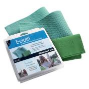 E-cloth Window Cleaning Pack, Window Cloth/Glass and Polishing Cloth