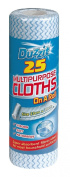 Multipurpose Cloths On A Roll 25pk