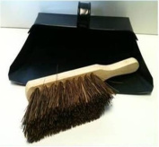 Black Hooded Metal Dust Pan and Stiff Brush Dustpan ash pan Traditional Dustpan and Brush