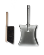 Garden Trading Metal Dustpan and Wooden Brush set