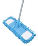 Extendable Microfibre Noodle Mop Cleaner Sweeper Wooden Tiled Floor Wet Dry