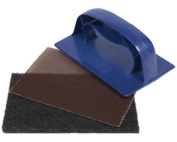 Blue Griddle Scourer Holder, 10 Cleaner Pads & 10 Mesh Screens For Cleaning Ovens, Grills, Pans And BBQ's / Barbeques.