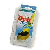 3 Non Scratch Dishmatic White Refill Sponges