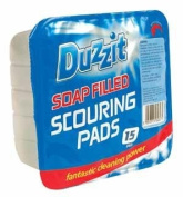 Duzzit - Soap Filled Scouring Pads - 15 Pads