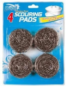 Duzzit - Stainless Steel Scouring Pads - 4 Pack