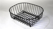 Black Plastic Coated Sink Basket