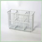 White Coated Wire Cutlery Basket