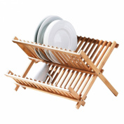 Attractive new Folding Dish Rack With Natural Bamboo Wood . Design