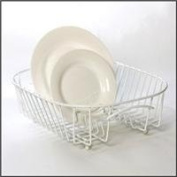White Oval Plate Sink Basket