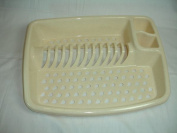 Plastic Dish/ Plate Drainer Oatmeal Home Kitchen Sink Utensil