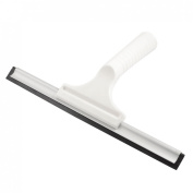 White Nonslip Handle 26cm Rubber Blade Window Glass Squeegee Shaver