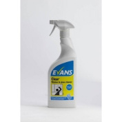 Evans Clear - Glass, mirror & Stainless Steel Cleaner - 750ml Trigger Spray