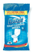 Toilet Cleaning Wipes 40pk