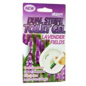 New Airpure Dual Stripe Toilet Gel Fresh Lasting Scent Lasts Up To 6 Weeks 44ml