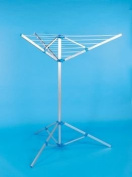 Caravan / Motorhome 3 Arm Aluminium Rotary Portable Folding Clothes Airer / Dryer with Tripod Stand