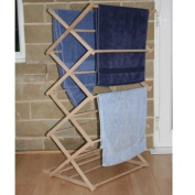 Classic Vintage Wooden Folding Clothes Washing Airer Clothes Horse
