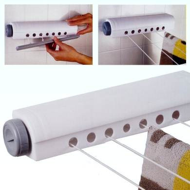 14M Indoor Retractable Washing Line Airer