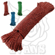 New 30 m Washing Poly Line Rope Hanging Clothes Airers - Made from Durable Material - Strong & Long Lasting - 3 Colours