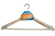3 Wooden Coat / Clothes Hangers