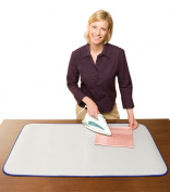 Wenko 1035073500 Thermal Ironing Table Pad - Heat-Reflective Aluminium Coating Cotton 100 x 65 cm Aluminium Colour