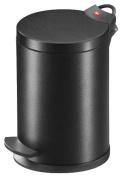 Hailo Design T2.4 0704-161 Cosmetics Pedal Bin Black Line - Matt Black with Sleek Surface Design