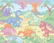 Walltastic Baby Dino World Wallpaper Mural, 2.4m x 3m
