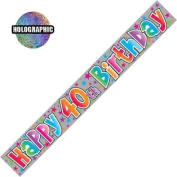 Party Banner Happy 40th Birthday Banner 2.6m