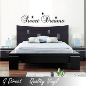 Sweet Dreams Stars for Bedroom vinyl Decal Wall Sticker home Longue decor Mural