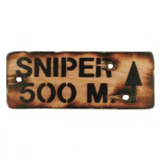 Kids Army Sniper 500M Wall Sign