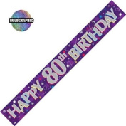 Party Celebration Banner - Age 80 Happy 80th Birthday