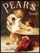 MSC10312 I'D FORGOTTEN MY PEARS SOAP VINTAGE STYLE HOUSEHOLD EXTRA LARGE METAL ADVERTISING WALL SIGNS