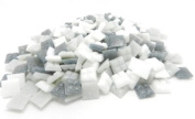 400 Vitreous Glass Mosaic Tiles Greys Arts & Crafts 10mm