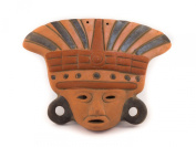 Aztec Ceramic Mask - Fair Trade and handmade in Mexico - Indoor or outdoor use L23xH23cm