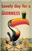 GUINNESS TOUCAN Embossed 3D Vintage Metal Irish Pub Sign