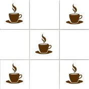 Vinylworld Coffee Cups (design 5) Wall Tile vinyl decal stickers x12