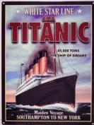 Original Metal Sign Co. Titanic White Star Line Metal Wall Sign