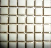 Mini Glazed Ceramic Mosaic Tiles 10mm White
