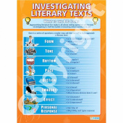 Investigating Literary Text Wall Chart/Poster in durable laminated paper A1