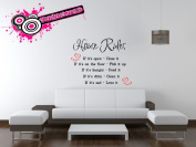 """""""House Rules"""" wall art mural vinyl graphics for living room/office stickers"""
