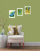 Walplus Parrot Butterfly Bird Canvas Wall Stickers/ Decal Art Mura Paper Print Pictures