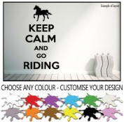 Keep Calm and Go Riding Horse Wall Sticker Wall Decal Wall Art Vinyl Wall Mural