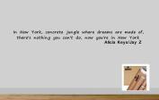 Juko Alicia Keys New York wall sticker decal quote