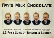 Fry's Chocolate 5 Boys Large metal Sign