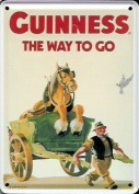 GUINNESS HORSE Small Vintage Metal Tin Pub Sign
